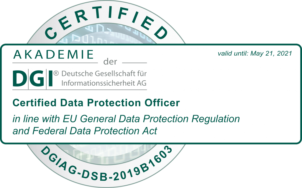 Certified Data Protection Office - Dirk Wasserthal